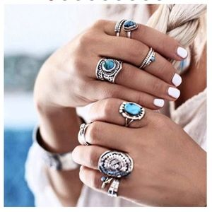 🦋Turquoise Fashion Rings